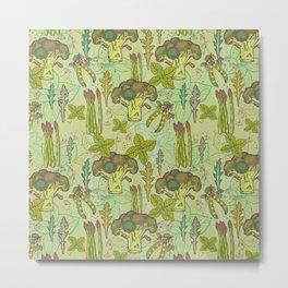 Green vegetables pattern. Metal Print