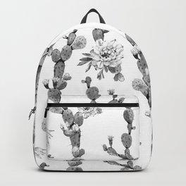 Cactus Rose Garden Stripe Black and White Backpack