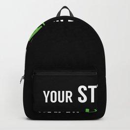 Stupidity Heal Stupid People Green Backpack