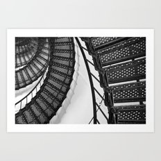 Hunting Lighthouse Stairs 1 Art Print