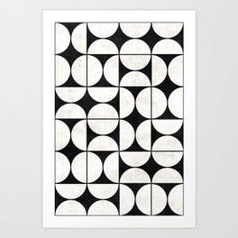 Mid-Century Modern Pattern No.2 - Concrete Art Print