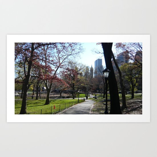 November in NY Art Print