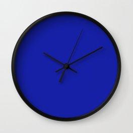 Azure Blue Solid Color Plain Wall Clock