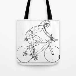 Transitions through Triathlon Cyclists Drawing A Tote Bag