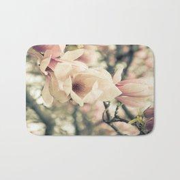 Magnolia Tree Bloom.  Flower Photography Bath Mat