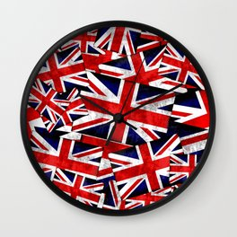 Union Jack British England UK Flag Wall Clock