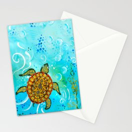 Sea Turtle Painting  Stationery Cards