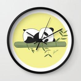 Sleeping panda Wall Clock