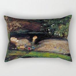John Everett Millais Ophelia Painting Rectangular Pillow