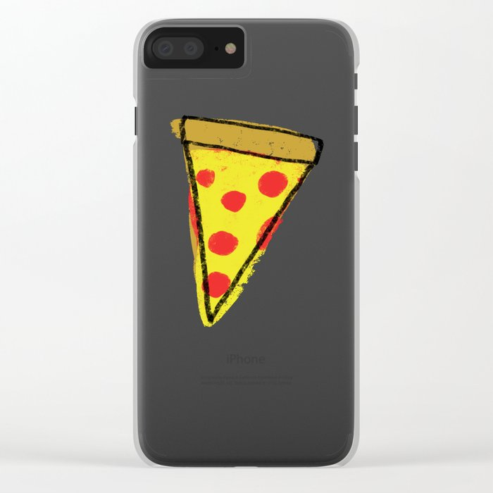 Pizza Party Clear iPhone Case