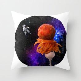 Space Spaghetti IRL Throw Pillow