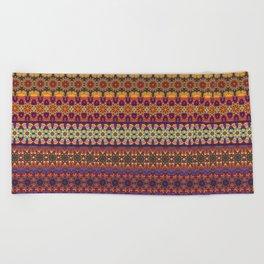 Vintage tribal aztec pattern Beach Towel