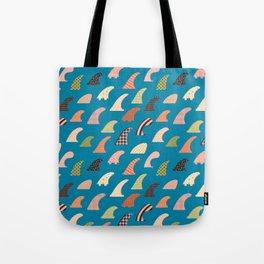 Single fin love Tote Bag