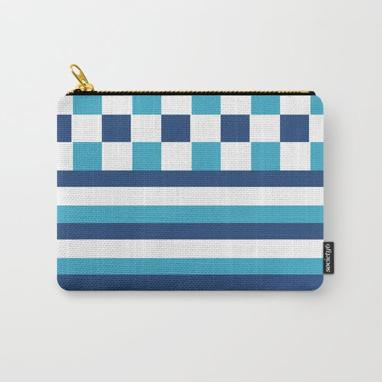 Blue summer stripes Carry-All Pouch