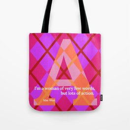 A - Action Argyle - Mae West  Tote Bag