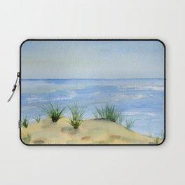 Dunes and Ocean Fine Art Watercolor painting Laptop Sleeve