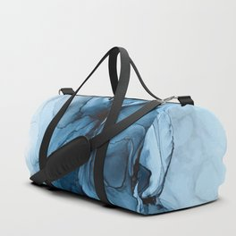 Deep Blue Flowing Water Abstract Painting Duffle Bag