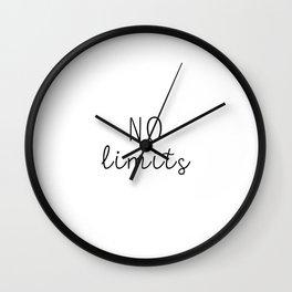 No Limits Wall Clock