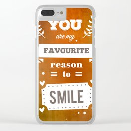 81 - You Clear iPhone Case