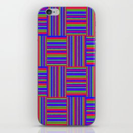 Blue And Red Weaved Squares iPhone Skin