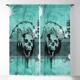 Awesome skull with wings Blackout Curtain