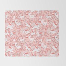 Where the bunnies sleep (rose) Throw Blanket
