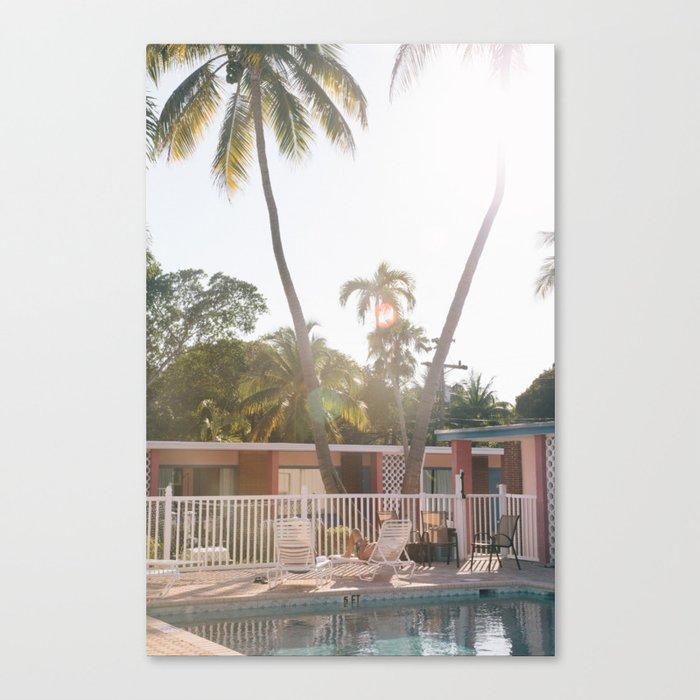 Motel Pool and Sun Canvas Print