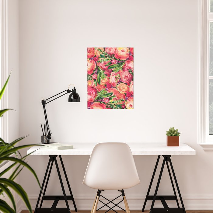 Pretty Peonies Poster