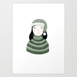 Winter girl - Myriam Art Print