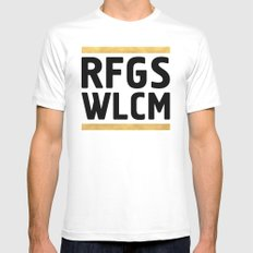 RFGS WLCM - Refugees Welcome Mens Fitted Tee White MEDIUM