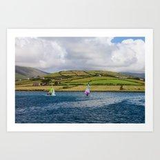 Windsurfers Art Print