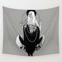 goddess Wall Tapestries featuring Goddess by alesaenzart