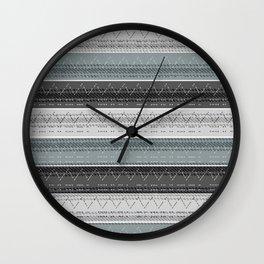 Morse Code Stripe Wall Clock