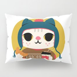 Holiday - Cat in a Sweater / Mustard Yellow Pillow Sham
