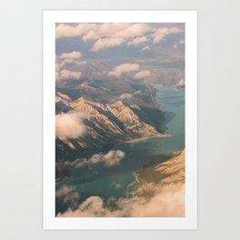 Golden Hour Rockies Art Print