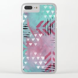 Tribal Rythm Clear iPhone Case