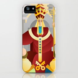 tarot fifth card the pope the hierophant iPhone Case
