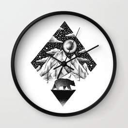 LONELY BEAR Wall Clock