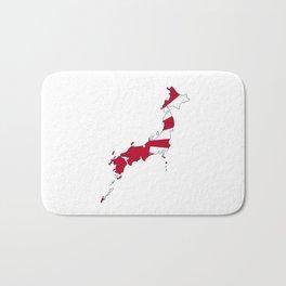 Japanese Map and Flag Bath Mat