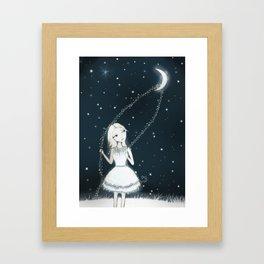 Lasso The Moon Framed Art Print