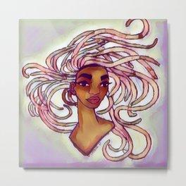 Curled Rose Metal Print