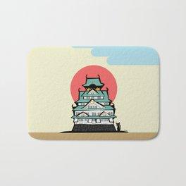 Osaka castle Bath Mat