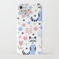 racoon iPhone & iPod Cases featuring Racoon pattern  by luizavictoryaPatterns