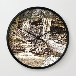 Waterfall, Valley Falls, Fairmont, WV Wall Clock
