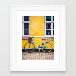 Bike and yellow Framed Art Print