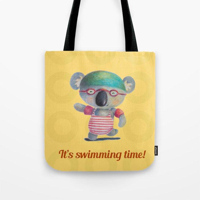 Swimming Time Tote Bag