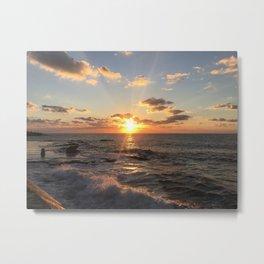 Mediterranean Sunset (Joppa) Metal Print