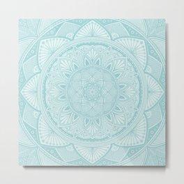 Powder Blue Mandala 3 Metal Print