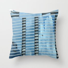 BLUE CHICAGO - CLEANING WINDOWS Throw Pillow