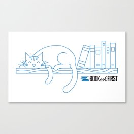 The Purrfect Reading Buddy Canvas Print